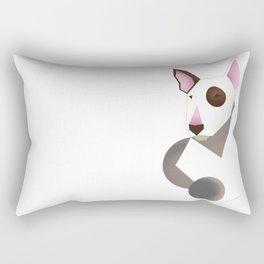 White bull terrier Rectangular Pillow