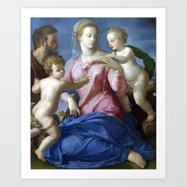Agnolo Bronzino The Holy Family with the Infant Saint John the Baptist (Madonna Stroganoff) Art Print