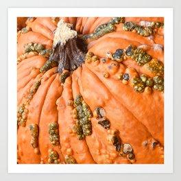 Exotic Autumn Pumpkin Art Print