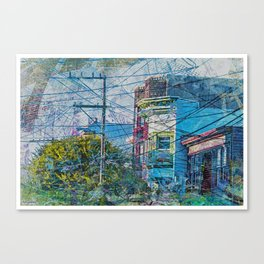 Linked out Victorians in Mission District sfc Canvas Print