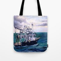 england Tote Bags featuring New England by Samantha Crepeau