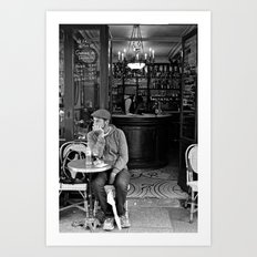 At the Cafe Art Print