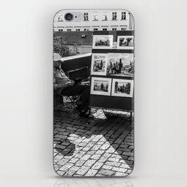 Resting Man With Sun Hat iPhone Skin