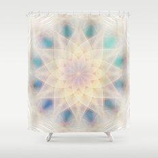 Water Lily Mandala Shower Curtain
