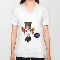 mad hatter V-neck T-shirts featuring Mad Hatter by Lourenço Santos