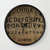 ouija Wall Clocks featuring Ouija (Gravedigger) by Billy Ludwig
