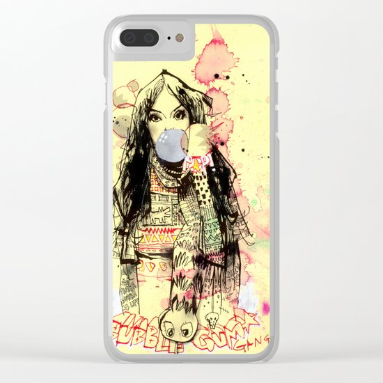 Bubble Gum Bandits Clear iPhone Case