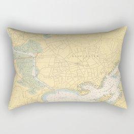 Vintage Map of Gloucester MA (1949) Rectangular Pillow