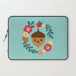 Acorn and Flowers Laptop Sleeve