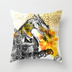 The dynamo and the virgin Throw Pillow