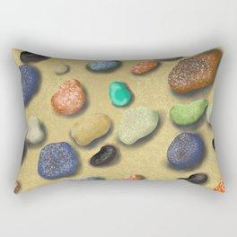 Pebbles beach Rectangular Pillow