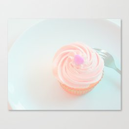 PINK Frosting Topped Cupcake Canvas Print