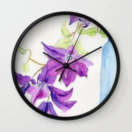 Violet Cascade Wall Clock