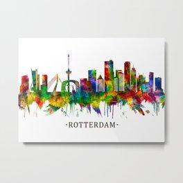 Rotterdam Netherlands Skyline Metal Print
