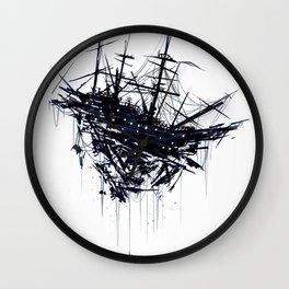 Shattered Ship Wall Clock