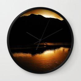 Fiery Finale Wall Clock