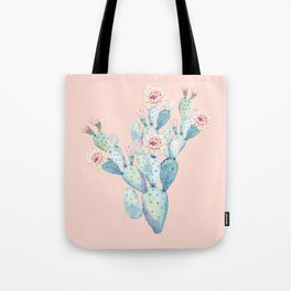 Rose Desert Cactus on Pink by Nature Magick Tote Bag