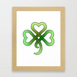 Celtic Clover Framed Art Print