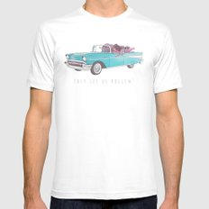 The See Us Rollin' Mens Fitted Tee MEDIUM White