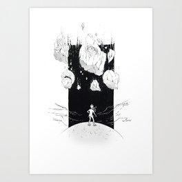 Falling skies Art Print