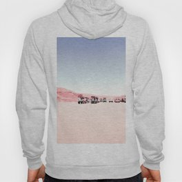 sand desert with blue sky at Antelope Canyon, USA Hoody