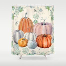 Pumpkin Patch Shower Curtain