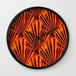 Retro Fans (rust) Wall Clock