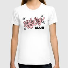 Ugly Cry Club White X-LARGE Womens Fitted Tee