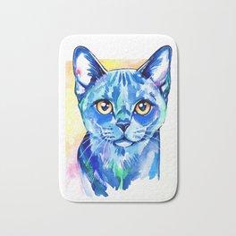 Cat - British Blue Portrait Bath Mat