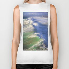 Breaking Waves Biker Tank