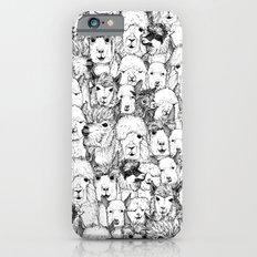 just alpacas black white iPhone 6 Slim Case