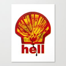 Hell Oil Canvas Print
