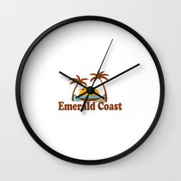 Emerald Coast. Wall Clock