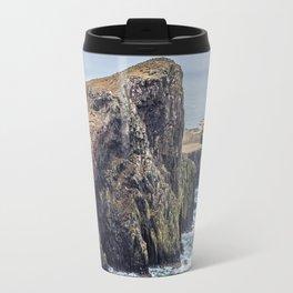Lighthouse rock ocean Travel Mug