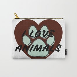 I love animals | Amo a los animales Carry-All Pouch