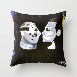 Vorhees Vs. Meyers Throw Pillow