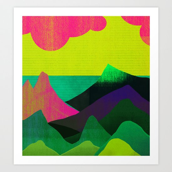 Sea View Art Print