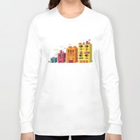 buildings Long Sleeve T-shirts featuring Buildings by Luis Pinto
