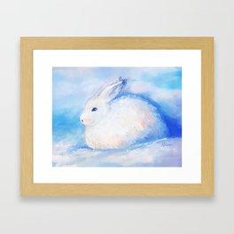 Snow Rabbit Framed Art Print