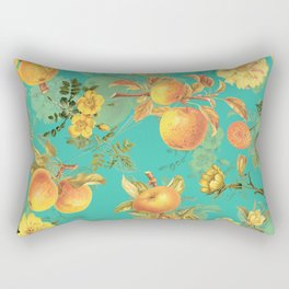 Vintage & Shabby Chic - Summer Golden Apples Flowers Garden Rectangular Pillow