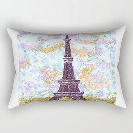 Eiffel Tower Pointillism by Kristie Hubler Rectangular Pillow