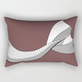 White Mermaid Tail V2 w/ Red Background Rectangular Pillow
