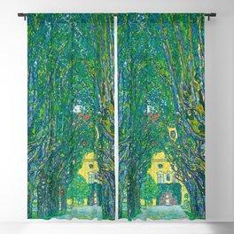 """Gustav Klimt """"Avenue in the park in front of Schloss Kammer"""" Blackout Curtain"""