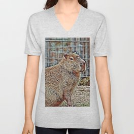 SmartMix Animal Capybara Unisex V-Neck
