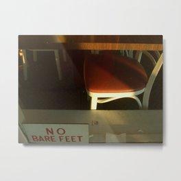 no bare feet Metal Print