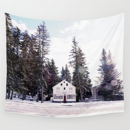 Tiny Cottage in the Middle of Banff Wall Tapestry