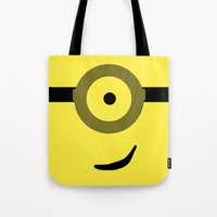 minions Tote Bags featuring Minions Banana? by ZenthDesigns