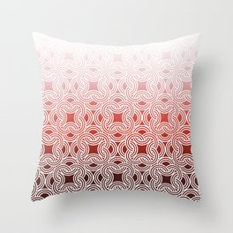 Ombre Abstract Circle Pattern Throw Pillow