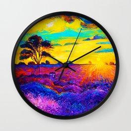Tardis Art Starry Tree Wall Clock