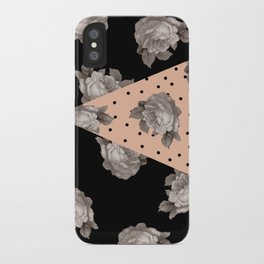 Roses and Peach iPhone Case